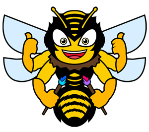 Drone bee package icon honding brushes