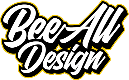 Bee All Design white text logo